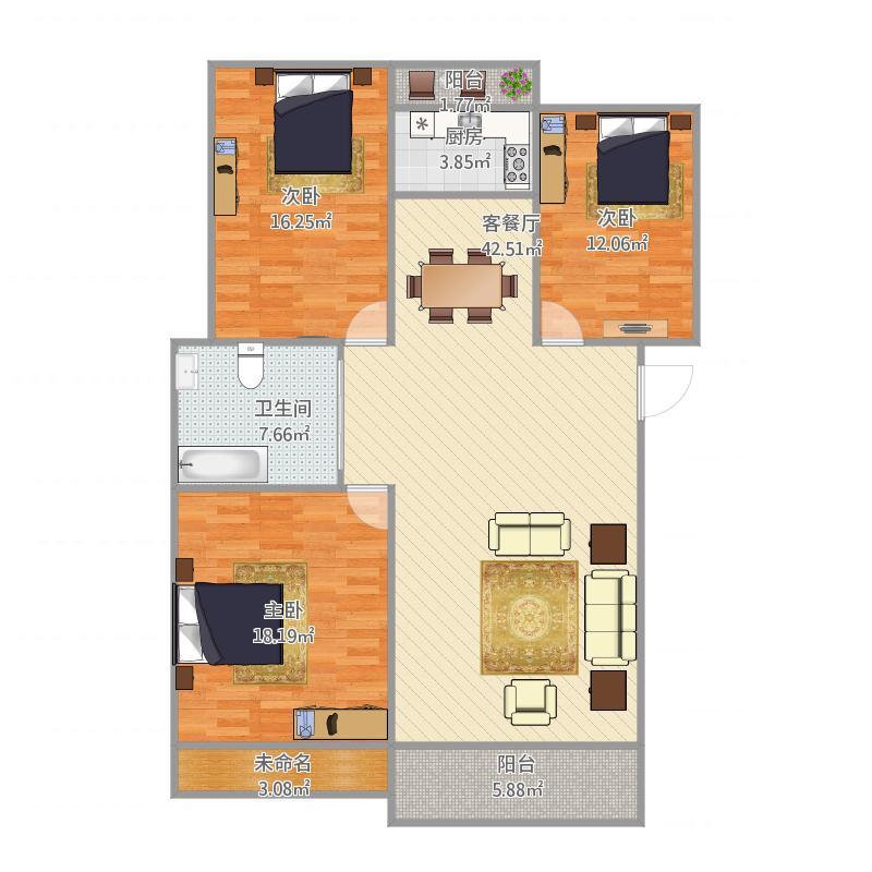 鑫苑世纪东城3室