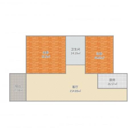 日高卡卡2室1厅1卫1厨515.00㎡户型图