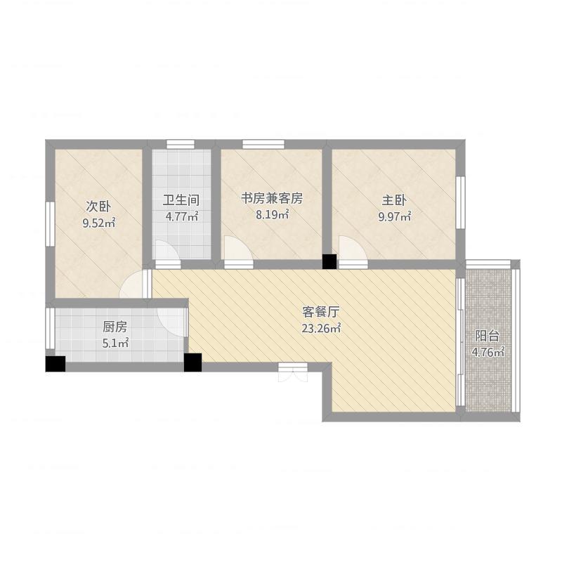 龙园山庄三室两厅
