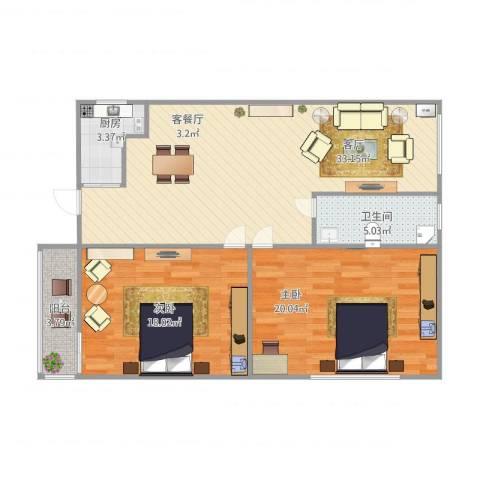 fghfhg2室1厅1卫1厨111.00㎡户型图