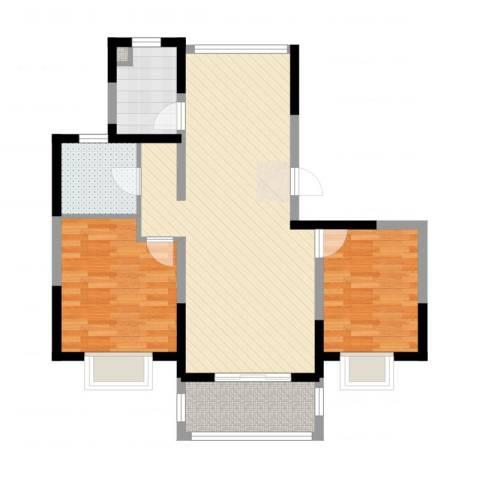 绿地泊林公馆2室2厅1卫1厨83.00㎡户型图