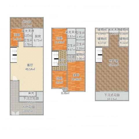 新浦江城三期4室1厅4卫1厨350.00㎡户型图