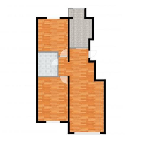 万科中粮・假日风景2室1厅1卫1厨92.00㎡户型图