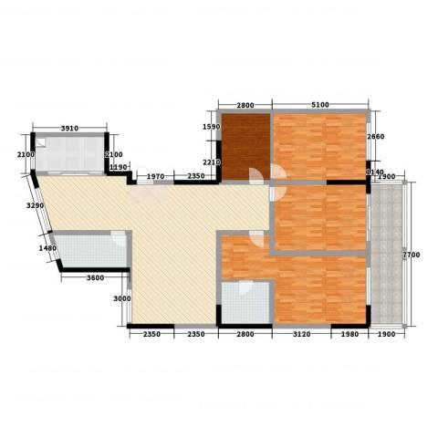 中央华府4室2厅2卫1厨204.00㎡户型图