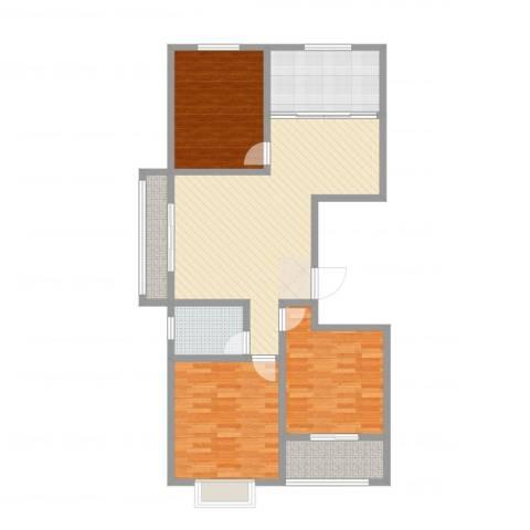 荔水湾3室2厅1卫1厨111.00㎡户型图