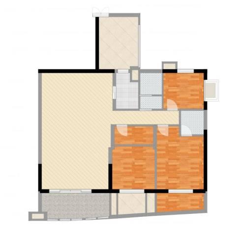 南湖中祥大厦3室3厅6卫4厨136.00㎡户型图