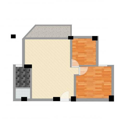 环翠园2室1厅1卫1厨62.00㎡户型图