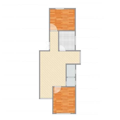 管庄西里2室4厅1卫1厨80.00㎡户型图