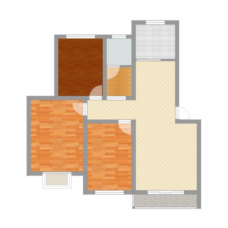 博爱一中小区-尺寸调整-无家具