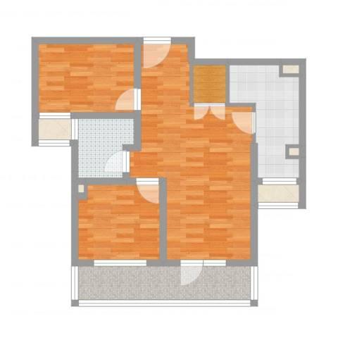 季景华庭2室1厅1卫1厨78.00㎡户型图