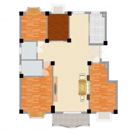 小城春秋4室2厅2卫1厨149.00㎡户型图