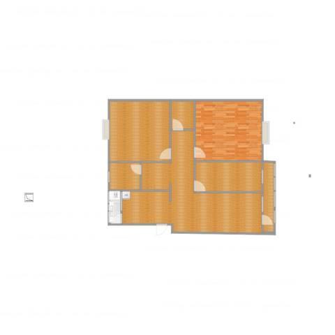 长虹小区5室1厅1卫1厨121.00㎡户型图