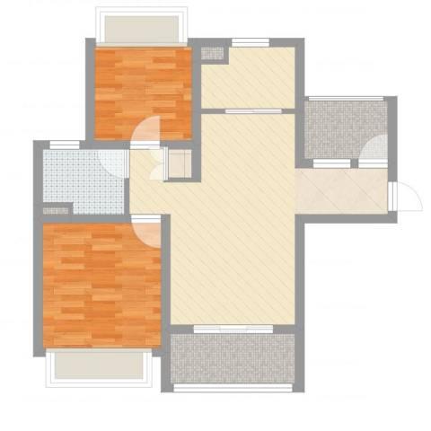 绿地启航社5期2室2厅3卫1厨71.00㎡户型图