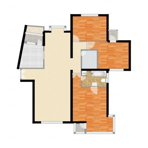 海逸长洲恋海园3室2厅2卫1厨110.52㎡户型图