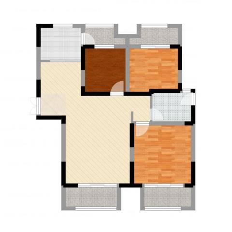 景徽国际3室2厅1卫1厨101.00㎡户型图