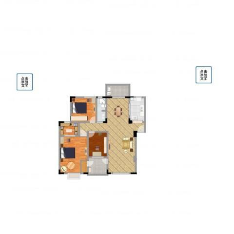 金色池塘3室1厅1卫1厨131.00㎡户型图