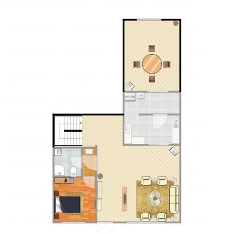 首创·澜茵山1室2厅2卫1厨144.00㎡户型图
