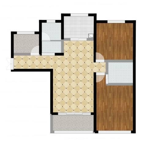 中科苑2室2厅2卫1厨110.00㎡户型图