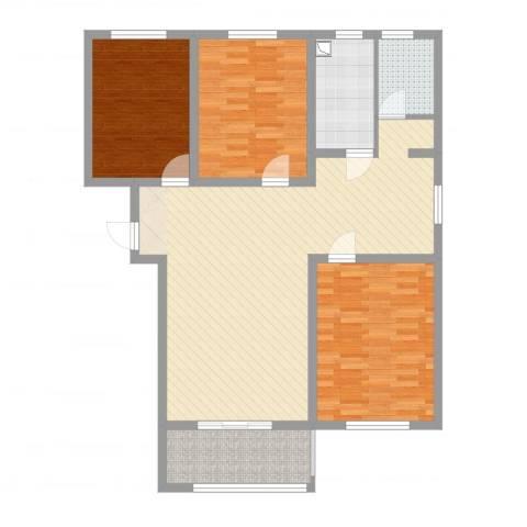文鑫花园3室2厅1卫1厨92.52㎡户型图