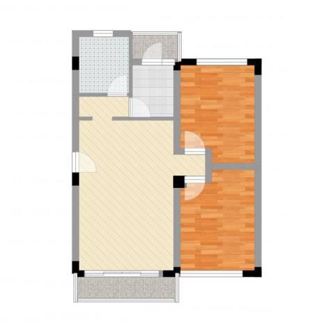 景福花园2室2厅1卫1厨66.00㎡户型图
