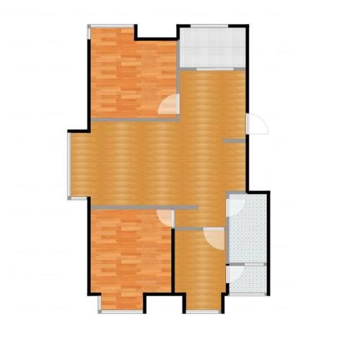 荣盛・幸福大道3室2厅2卫1厨87.00㎡户型图