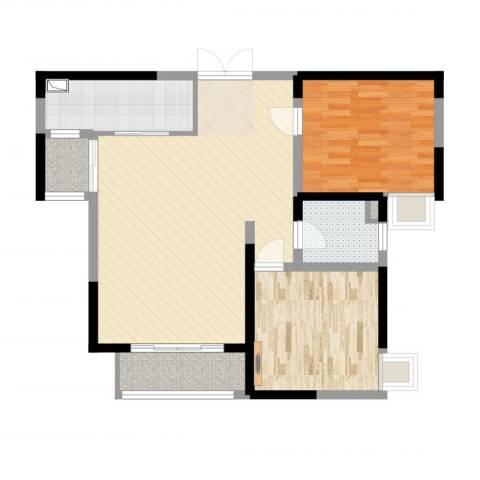 世纪城・江南2室2厅1卫1厨90.00㎡户型图