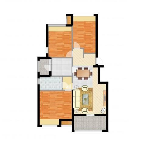 中建公元壹号3室1厅1卫1厨98.00㎡户型图