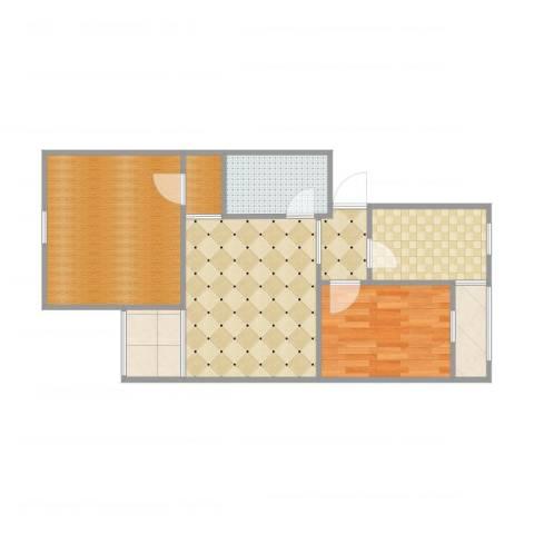 龙华园东区1室1厅3卫1厨64.00㎡户型图