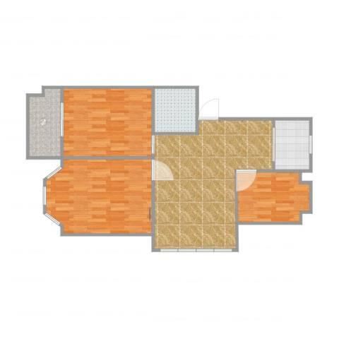 君悦上城3室1厅1卫1厨81.00㎡户型图