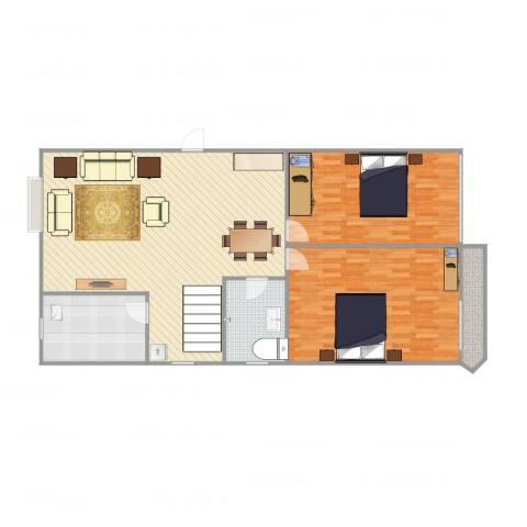 横店阳光小区2室1厅1卫1厨139.00㎡户型图