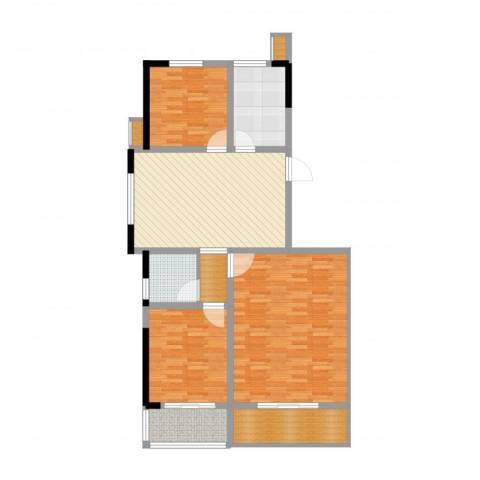 大成优盘3室1厅1卫1厨90.94㎡户型图