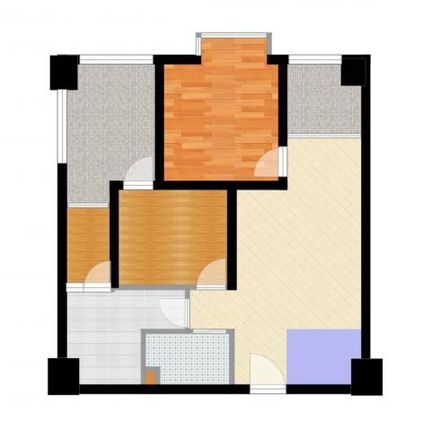 鸿阁一号2室2厅1卫1厨79.00㎡户型图