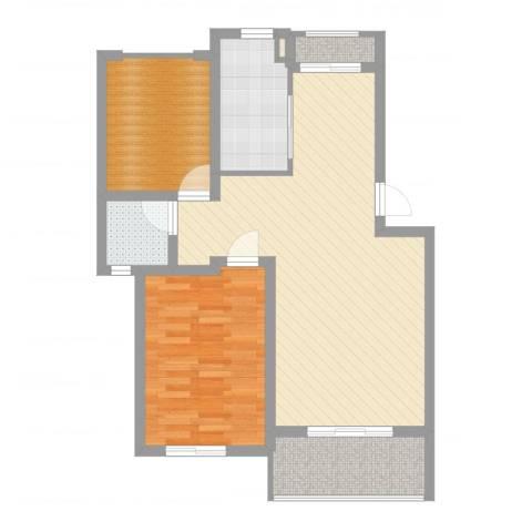 阳光苑(曹路)1室2厅1卫1厨78.00㎡户型图
