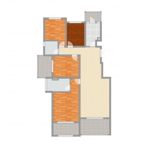 林隐天下4室2厅2卫1厨164.00㎡户型图