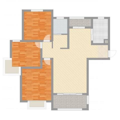 华府天地3室2厅2卫1厨119.00㎡户型图