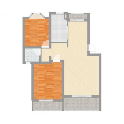 阳光苑(曹路)2室2厅1卫1厨83.00㎡户型图