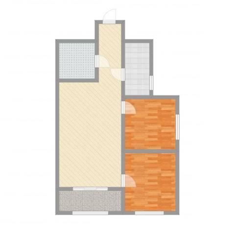 泛泰依山郡2室2厅1卫1厨81.00㎡户型图