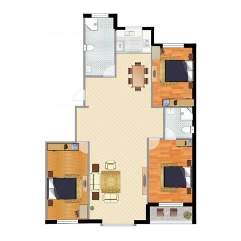 绿墅蓝湾1室1厅2卫1厨140.00㎡户型图