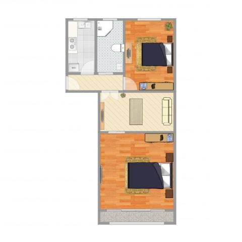 南泉苑2室1厅1卫1厨59.00㎡户型图