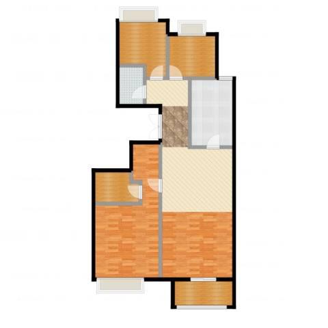 龙湖・长楹天街3室1厅1卫1厨118.00㎡户型图
