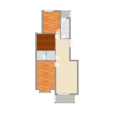 国泉城3室4厅1卫1厨98.00㎡户型图