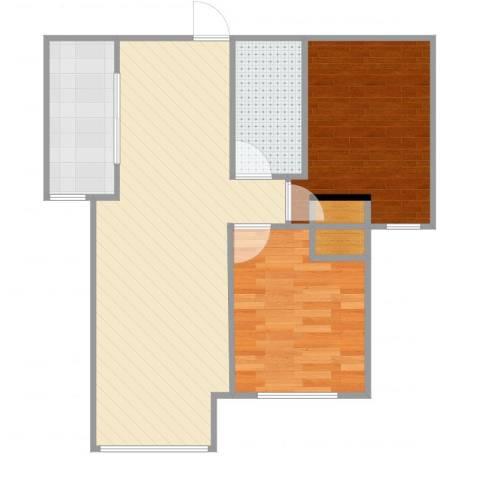 康泽佳苑2室1厅1卫1厨63.00㎡户型图