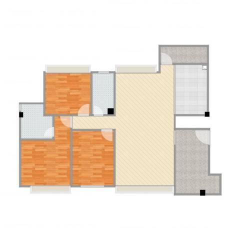 壮龙・幸福新城3室1厅2卫1厨121.00㎡户型图