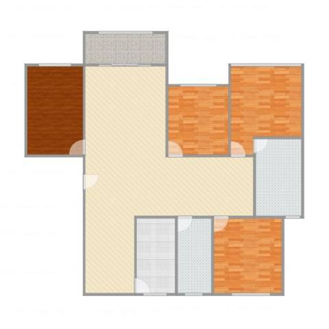 万科优诗美地4室1厅2卫1厨177.00㎡户型图