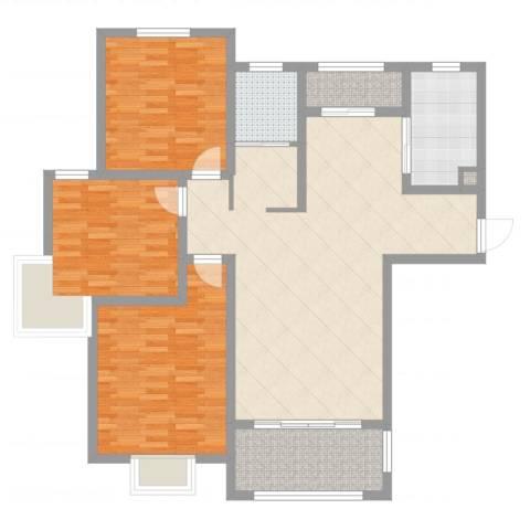 华府天地3室2厅1卫1厨119.00㎡户型图