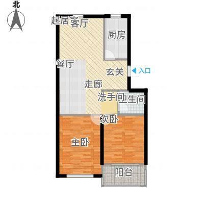 天福城户型2室1卫1厨-副本