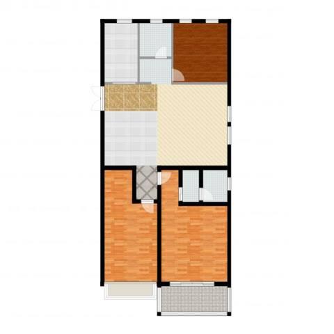 正德广场3室2厅3卫1厨158.00㎡户型图