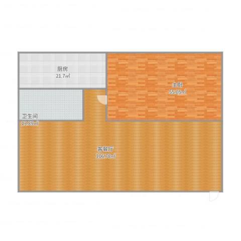 桃花岛城市花园(三期)1室2厅1卫1厨256.00㎡户型图