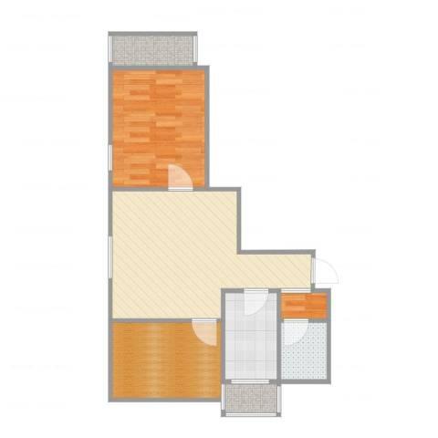 华丰家园1室3厅1卫1厨59.00㎡户型图