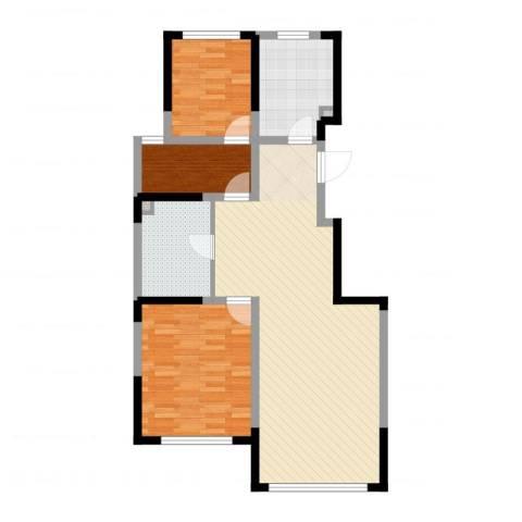 松原中信城3室2厅1卫1厨95.00㎡户型图